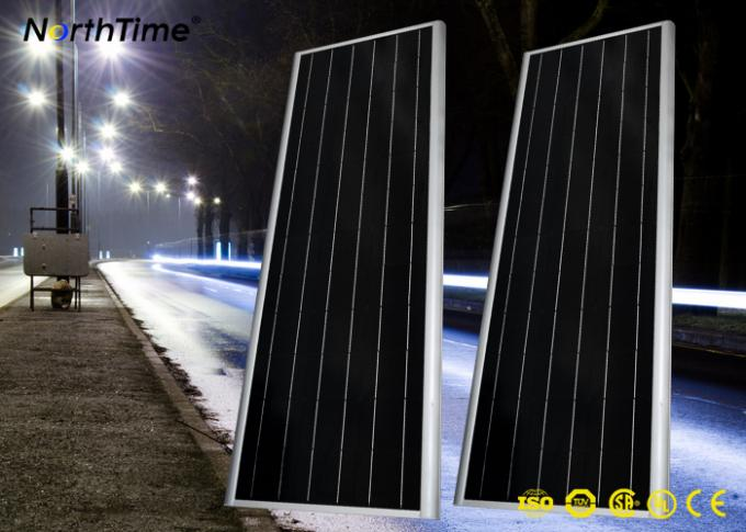 6500k-7000k  9000LM Solar Panel Street Lights with Lithium Battery 60AH